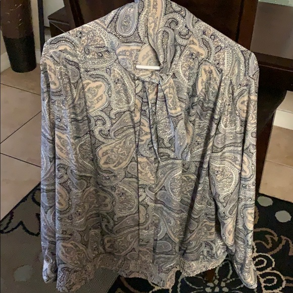 Tops - A Paisley blouse.